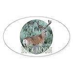 Buck moon Sticker (Oval 10 pk)