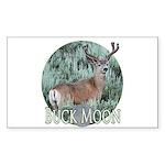Buck moon Sticker (Rectangle 10 pk)