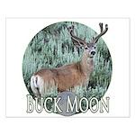 Buck moon Small Poster