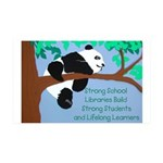 Panda Loves Libraries 38.5 x 24.5 Wall Peel