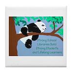 Panda Loves Libraries Tile Coaster