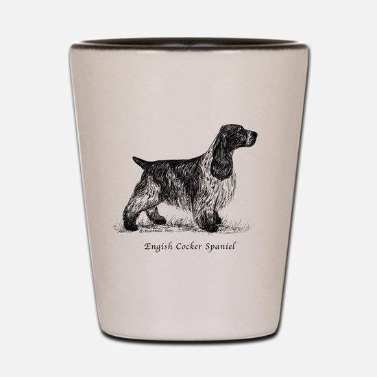 English Cocker Spaniel Shot Glass