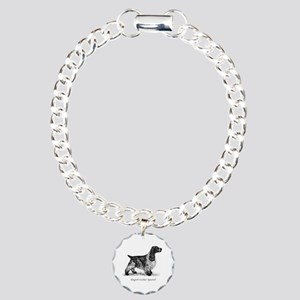 English Cocker Spaniel Charm Bracelet, One Charm