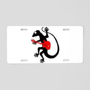 Gecko Guitar Aluminum License Plate
