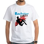 Sexy Bachelor Party White T-Shirt