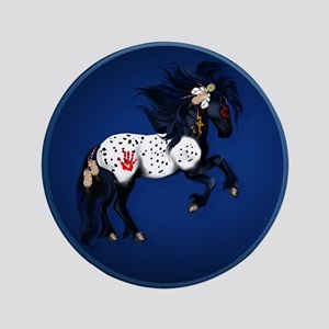 "Appaloosa War Pony 3.5"" Button"