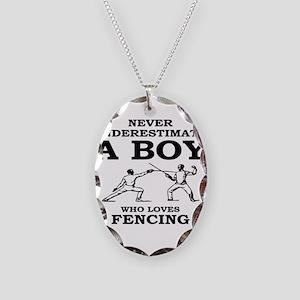 Never Underestimate A Boy Who Necklace Oval Charm