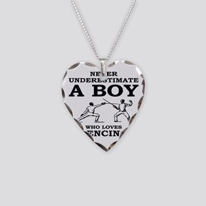 Never Underestimate A Boy Who Necklace Heart Charm