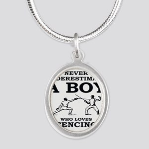 Never Underestimate A Boy Who Loves Fenc Necklaces