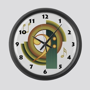 Bass Clef Deco Large Wall Clock