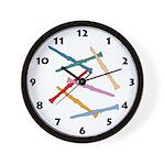 Colorful Clarinets Wall Clock