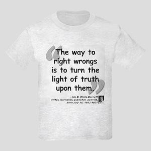 Wells Truth Quote Kids Light T-Shirt