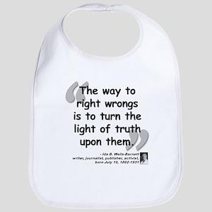 Wells Truth Quote Bib