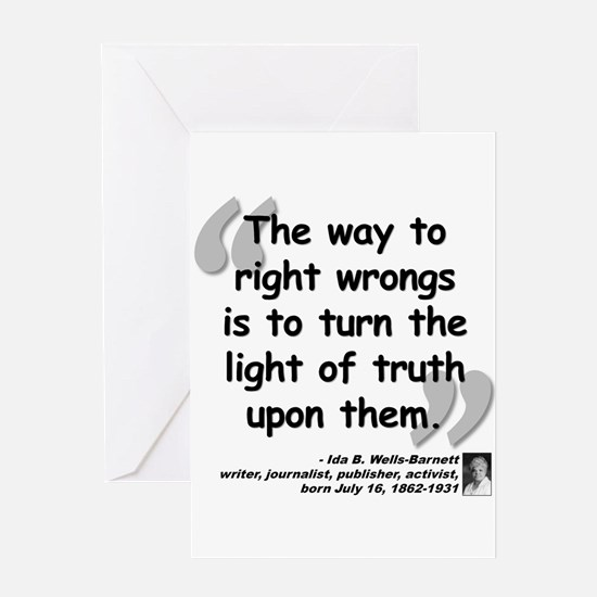 Wells Truth Quote Greeting Card