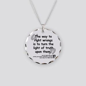 Wells Truth Quote Necklace Circle Charm