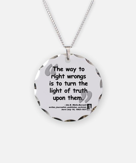 Wells Truth Quote Necklace