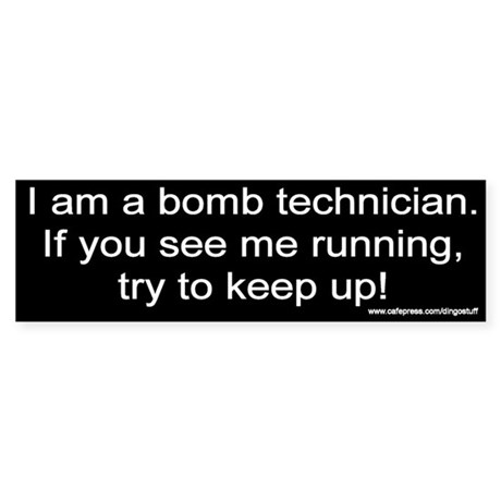 """Bomb Tech"" Bumper Sticker"