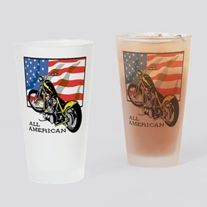 All American Chopper Drinking Glass