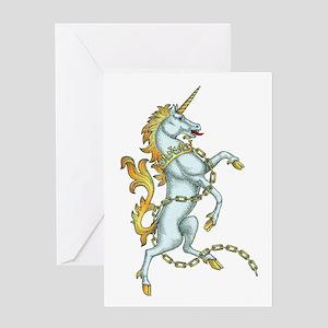 Unicorn tattoos greeting cards cafepress mythical unicorn tattoo greeting card m4hsunfo