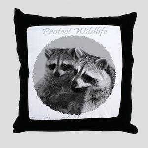 Protect Wildlife Throw Pillow