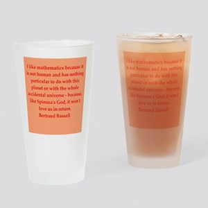 Bertrand Russell quotes Drinking Glass