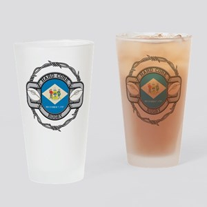 Delaware Rugby Drinking Glass