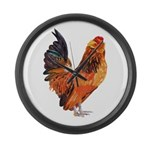 Chicken Large Wall Clock