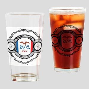Iowa Biking Drinking Glass