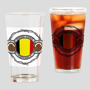 Belgium Football Drinking Glass