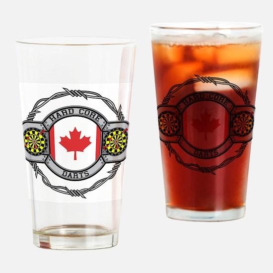 Canada Darts Drinking Glass