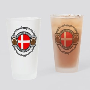 Denmark Football Drinking Glass