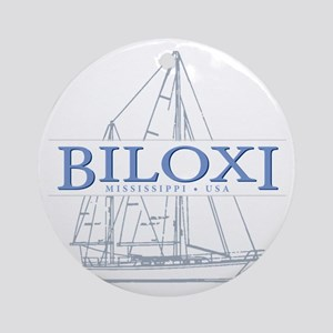 Biloxi Mississippi Round Ornament