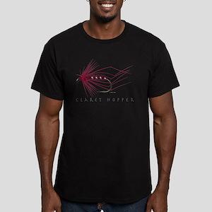 Claret Hopper Men's Fitted T-Shirt (dark)