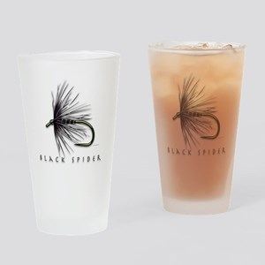 Black spider Drinking Glass