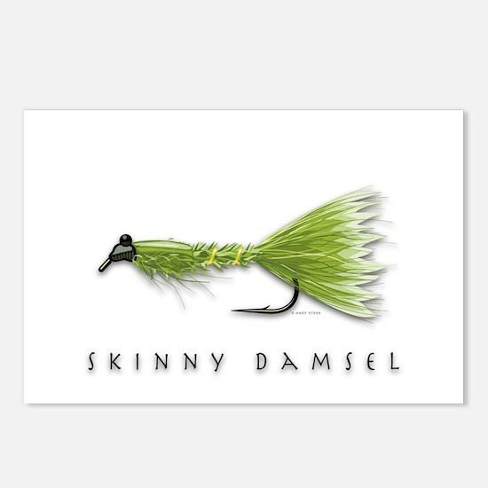 Skinny Damsel Postcards (Package of 8)