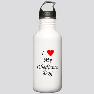 I Love My Obedience Dog Stainless Water Bottle 1.0