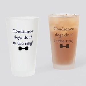 obedience dogs do it in the Drinking Glass
