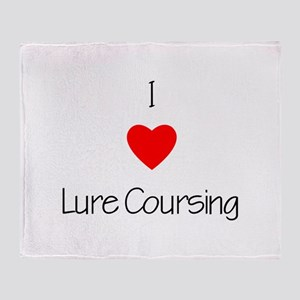 I love Lure Coursing Throw Blanket