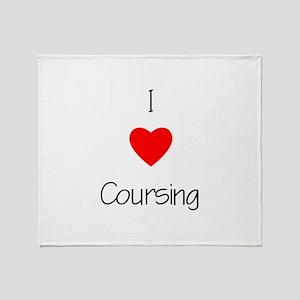I love Coursing Throw Blanket