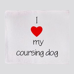 I love my coursing dog Throw Blanket
