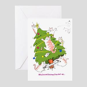 Merry Catzmas Greeting Cards (Pk of 10)