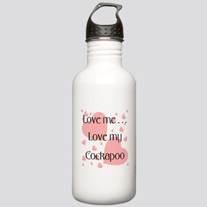 Love me...Love my Cockapoo Stainless Water Bottle