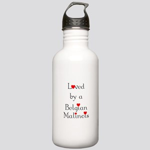 Loved by a Belgian Malinois Stainless Water Bottle