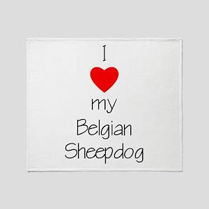 I Love My Belgian Sheepdog Throw Blanket
