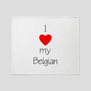 I Love My Belgian Throw Blanket