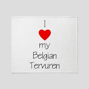 I Love My Belgian Tervuren Throw Blanket