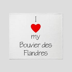 I Love My Bouvier des Flandre Throw Blanket