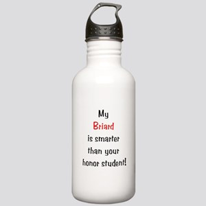 My Briard is smarter... Stainless Water Bottle 1.0