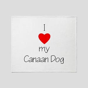 I Love My Canaan Dog Throw Blanket