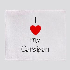 I Love My Cardigan Throw Blanket
